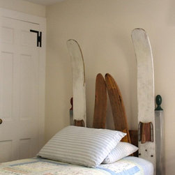 Recent Pieces - Vintage water skis repurposed into whimsical headboards for a boy's room in a Cape Cod home.