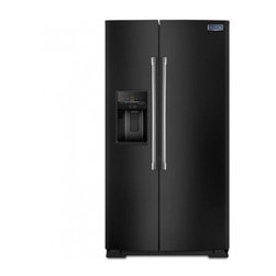 Maytag - MSB26C6MDE 26 cu. ft. Side-By-Side Refrigerator with BrightSeries Lighting  Spil - The MSB26C6MD Refrigerator from Maytag will bring elegance to your kitchen and freshness to your food It has stainless steel handles BrightSeries LED lighting ice and filtered water dispenser spill-catcher glass shelves humidity controlled FreshLock ...