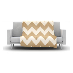 """Kess InHouse - Catherine McDonald """"Biscotti and Cream"""" Chevron Fleece Blanket (50"""" x 60"""") - Now you can be warm AND cool, which isn't possible with a snuggie. This completely custom and one-of-a-kind Kess InHouse Fleece Throw Blanket is the perfect accent to your couch! This fleece will add so much flare draped on your sofa or draped on you. Also this fleece actually loves being washed, as it's machine washable with no image fading."""