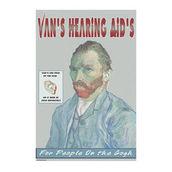 Buyenlarge - Vans Hearing Aids: For People on the Gogh 12x18 Giclee on canvas - Series: Tongue-in-Cheek