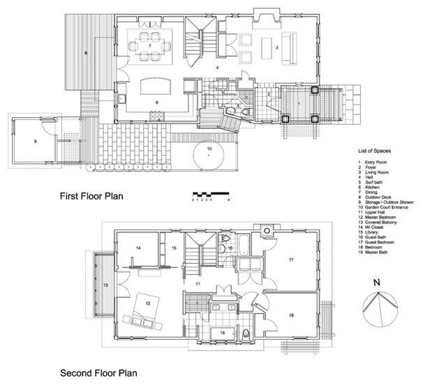 Beach Style Floor Plan by Richard Bubnowski Design LLC