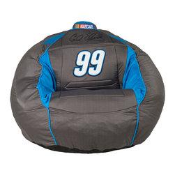 Ace Bayou - Ace Bayou Carl Edwards # 99 Kahuna Bean Bag Sound Chair 2.0 in Grey & Blue - Carl Edwards 99 Kahuna Bean Bag Sound Chair 2.0 in Grey and Blue by Ace Bayou.
