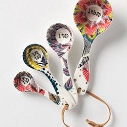 Anthropologie - Pop-Print Measuring Spoons - StonewareDishwasher safeImported