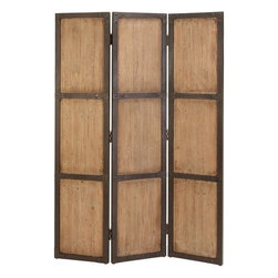 Benzara - Wood Screen 48in. Wide For Decorative Protection - Bring home the best of decorative protection and privacy screens to bring completeness to existing decor. Just have a look over 69157 WOOD SCREEN