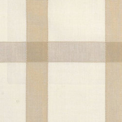 Plaid/Check - Natural/Beige Upholstery Fabric - Item #1009898-80.