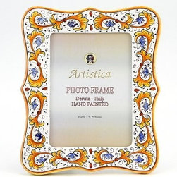 Artistica - Hand Made in Italy - PHOTO FRAME: Perugino - DERUTA PHOTO FRAMES: Absolutely exclusive by Artistica!