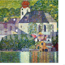 Kirche in Unterach Am Attersee, Church in Unterach on Attersee Giclee Print by G