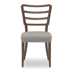 Bryght - 2 x Dana Fabric Upholstered Dining Chair - The Dana dining chair is shaped and sculpted to meet the modern household needs with style.With its back legs and backrest made of a single piece of wood, the Dana dining chair showcases a unique design that is versatile and flattering. Its smoothly curved backrest adds an extra level of comfort to its generously padded seating.