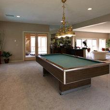 Contemporary Basement by Platinum Fine Homes & Estates