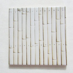 Custom Photo Factory - Daltile Japanese Bamboo Fence Ceramic Wall Tiles - Pack of/Case of: 20 Tiles. Samples Available for purchase. All of our tiles are printed on white ceramic Daltile; the same high quality tiles found at the hardware store. Our ceramic tiles are permanent designs. They are scratch resistant and highly resistant to chemical wear and sunlight. As a matter of fact, our tiles will never fade, even in direct sunlight, 24 hours a day. The only way to damage the print is to damage the tile itself by breaking it. For use in residential and commercial. Glazed glossy finish with a high sheen and uniform appearance in tone. Dimensions of tile: 3 inches x 6 inches or 4 inches x 4 inches (actual 4-1/4 in. x 4-1/4 in). Installation: Indoor and outdoor use on walls in your kitchen and bath and living area.