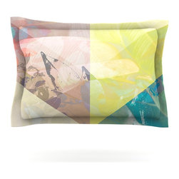"Kess InHouse - Gabriela Fuente ""Patch Garden"" Tan Yellow Pillow Sham (Cotton, 30"" x 20"") - Pairing your already chic duvet cover with playful pillow shams is the perfect way to tie your bedroom together. There are endless possibilities to feed your artistic palette with these imaginative pillow shams. It will looks so elegant you won't want ruin the masterpiece you have created when you go to bed. Not only are these pillow shams nice to look at they are also made from a high quality cotton blend. They are so soft that they will elevate your sleep up to level that is beyond Cloud 9. We always print our goods with the highest quality printing process in order to maintain the integrity of the art that you are adeptly displaying. This means that you won't have to worry about your art fading or your sham loosing it's freshness."