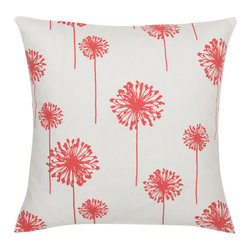 Look Here Jane, LLC - Dandelion Coral Pillow Cover - PILLOW COVER