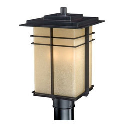 Vaxcel Lighting - Vaxcel Lighting AB-OPU090 Ashbee 3 Light Outdoor Post Light - Features: