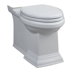 American Standard 3071.000.020 Town Square Right Height Elongated Bowl with Conc - Features: 10 Year Warranty On Entire Toilet, Evercleansurface Inhibits The Growth Of Stain And Odor Causing Bacteria, Mold And Mildew On The Surface, Includes Design Matched Duroplast Slow Close Seat And Cover With Color-Matched Hinges #760140-100.0070A. Seat Model #5214.110 Found In Toilet Seats Section