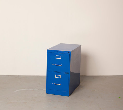 "Filing Cabinets - 2 drawer 29""H X 15""W X 28.5""D Shown in all blue"