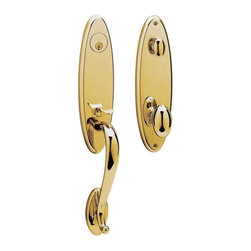 Baldwin Hardware - Blakely Lifetime Single Cylinder Handleset with Egg Knob in Polished Brass - Feel the difference � Baldwin hardware is solid throughout, with a 60 year legacy of superior style and quality. Baldwin is the choice for an elegant and secure presence. Baldwin guarantees the beauty of our finishes and the performance of our craftsmanship for as long as you own your home.