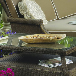 Lloyd Flanders Hamptons End Table - Cap off your outdoor seating with a chic end table from the Lloyd Flanders Hamptons Collection.