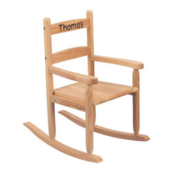 "KidKraft - Kidkraft Home Indoor Kids Wooden Comfortable 2-Slat Rocker Chair Natural - Our 2-Slat Rocking Chair brings new life to the 2-slat design. If unsure about exactly which rocking chair you want to purchase, this classic design is a wise, safe decision. Dimension: 21.5""Lx 14.25""Wx 23.5""H, SEAT 10.5""H"