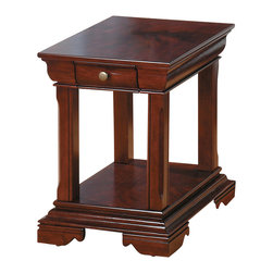 Jofran - Jofran 299-3 Miniatures - Regal Cherry End Table - The simplicity and elegance, style and practicality - these are the main theses of occasional tables by Jofran inc. Among the great variety of collections you can choose the one that best suits your apartment, and that is to your liking. This miniatures-regal cherry 18X22 end table belongs to 299 series - miniatures / regal cherry collection by Jofran inc. The classic formulas of color combinations are not valid in Jofran furniture territory: here is ruled by laws solely of your own preferences and fantasies. Huge selection of colors in combination with a wide choice of shapes and sizes allow you to find among this variety precisely the furniture you've always wanted to see in your home. Jofran furniture offers high quality, casual furniture pieces that are constructed from premium Asian hardwoods, and finished with beautiful veneers. Durable materials and quality assembly will help your furniture to serve for many years and will not let you be disappointed in your choice.