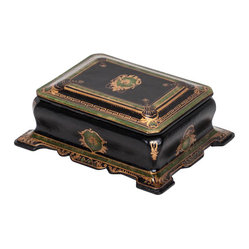 Black and Green Decorative Box