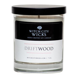 Witch City Wicks - Driftwood Soy Candle - We've all weathered a few storms in our lifetime. With its soothing scent combination, this Witch City Wicks candle makes a great gift for someone looking for calmer waters.