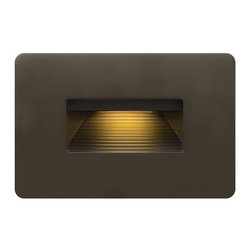 Hinkley Lighting - Luna 58508 - LED Outdoor Step Light | Hinkley - Hinkley Lighting Luna�_58508 LED Outdoor Step Light features zinc-aluminum alloy construction and available in three finishes. Manufacturer:�_HinkleySize: 4.5 in. width x 3 in. height x 0.5 in. extension Light Source: 1 x 4W / 120V LED - includedCertifications:�_--ADA CompliantDimmable�_with Universal Dimmer Switch