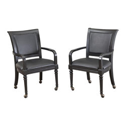 Home Styles - Home Styles St. Croix Game Chair Pair with Casters - Home Styles - Poker Table Chairs - 5901812 - The St. Croix Game Chair is constructed of poplar solids in a multi-step Black finish with a Black vinyl, cushioned seat and back. Sold two per pack.