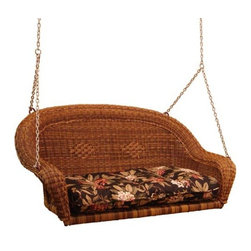 Fifthroom - Wicker Sands Porch Swing w/ Cushion - Placement of this fantastic, Wicker Sands Porch Swing should be carefully considered, to coincide with your intended use of it. To attract lots of visitors, your front porch and yard are ideal locations. However, if you're planning to use it mainly as a place for quiet relaxation and reflection, around back or in your gazebo may be your best bet.
