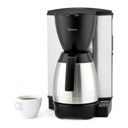 Capresso - Capresso MT600 Plus - The Capresso MT600 is a programmable 10 cup coffee maker. It features a stainless steel thermal serving carafe and a stainless steel lined heating system.