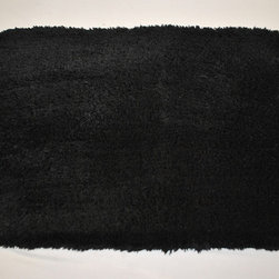 Sherry Kline - Sherry Kline Solid Black 21 x 34 Bath Rug (Set of 2) - You'll love stepping out of the shower and onto this soft Sherry Kline bath rug. The set of two rugs is ideal for use in front of a bathtub or bathroom sink to keep you from having to step on the cold tile while you are getting ready.