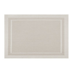 KAF Home - Moderne Light Champagne Placemat, Set of 4 - Featuring a simple, yet elegant, design, the Moderne placemat offers the perfect complement to the modern kitchen. Two-toned shades of earthy colors provide a sense of formality to the dining table.