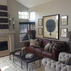 Contemporary Family Room by Susan Thiel Design