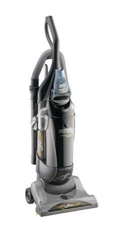 "Electrolux Home Care - Eureka AirSpeed Bagged Upright Vacuum, AS1051A - Eureka AirSpeed Bagged Upright AS1051A.  Moves More Air.  Removes More Dirt.  Eureka Exclusive - AirSpeed Technology: Wide tubes that increase the amount of airflow for superior suction and cleaning.  Quick ""Clean-Lock"" Bag Change System: Easy-to-change bag system with high filteration bag conveniently keeps your home fresh and clean without the mess.  42 Feet of Cleaning Reach: Extend your reach with the 12 foot hose and 30 foot cord for quicker  easier cleaning.  Premium Bags: (1 Assembled and 1 Extra) Retain up to 100% of dust mite debris  grass and ragweed pollens and household fibers.  HEPA Filter: Captures 99.97% of dust and allergens.  Stair and Upholstery Brush with Riser Visor: Removes dust  allergens and pet dander from upholstery backs and stair risers.  Bag Change Indicator: Changes color when it's time to change your bag.  12 Amps of Power: Maximum suction power for deep cleaning performance. 12 AMP power. Odor absorbing HEPA filtration.  3.0 dry quarts bagged containment.  14"" cle  This item cannot be shipped to APO/FPO addresses. Please accept our apologies."