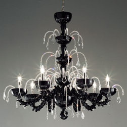 Leucos Lighting - Couture L8 Chandelier by Leucos Lighting - This looks like a water fountain. It comes in two different colors, black or silver. It's would be a great one for a grand entryway.