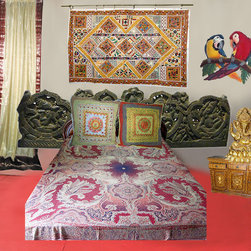 Indian Inspired Bedroom Decor - http://www.mogulinterior.com/home-decor.html