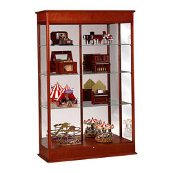 Waddell - Varsity Classic Display Case in Cherry Finish - Designed with the timeless elegance of classic fine furniture, our premium Varsity Series cases are so well crafted they'll look right at home in any decor. To showcase your finest accomplishments, choose the classic styling of the Varsity Series.