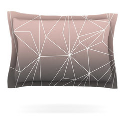 "Kess InHouse - Mareike Boehmer ""Simplicity 2X"" Brown Geometric Pillow Sham (Woven, 30"" x 20"") - Pairing your already chic duvet cover with playful pillow shams is the perfect way to tie your bedroom together. There are endless possibilities to feed your artistic palette with these imaginative pillow shams. It will looks so elegant you won't want ruin the masterpiece you have created when you go to bed. Not only are these pillow shams nice to look at they are also made from a high quality cotton blend. They are so soft that they will elevate your sleep up to level that is beyond Cloud 9. We always print our goods with the highest quality printing process in order to maintain the integrity of the art that you are adeptly displaying. This means that you won't have to worry about your art fading or your sham loosing it's freshness."