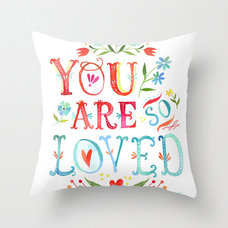 Contemporary Pillows by Society6