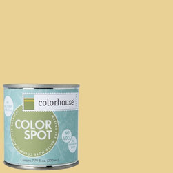 ColorSpot Eggshell Interior Paint Sample, Beeswax .02, 8-oz - Test color before you paint with the Colorhouse Colorspot 8-oz  paint sample. Made with real paint and in our most popular eggshell finish, Colorhouse paints are 100% acrylic with NO VOCs (volatile organic compounds), NO toxic fumes/HAPs-free, NO reproductive toxins, and NO chemical solvents. Our artist-crafted colors are designed to be easy backdrops for living.