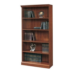 Sauder - Camden County 5 Shelf Bookshelf in Planked Ch - 5 Shelves (3 adjustable). Sturdy 1 in. thick shelves and uprights. Made of engineered wood. Assembly required. 36 in. W x 14 in. D x 72 in. H