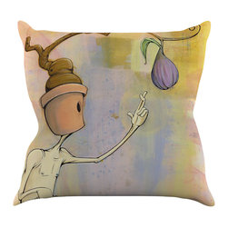 "Kess InHouse - Matthew Reid ""Purple Fruit"" Throw Pillow (16"" x 16"") - Rest among the art you love. Transform your hang out room into a hip gallery, that's also comfortable. With this pillow you can create an environment that reflects your unique style. It's amazing what a throw pillow can do to complete a room. (Kess InHouse is not responsible for pillow fighting that may occur as the result of creative stimulation)."