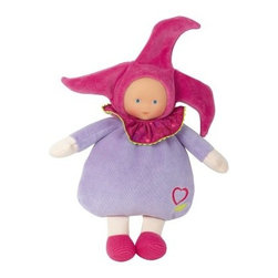 Corolle Barbicorolle Elf Grenadines Heart 9.5 in. Doll - A sweet little elf to steal your baby's heart, this Corolle Barbicorolle Elf Grenadines Heart 9.5 in. Doll is sweet-smelling and huggably soft. This little jester doll is specifically designed for newborns. It's lightweight with a super-soft plush body and sewn-on lavender velour outfit and raspberry jester's cap. Her premium vinyl face has a sweet expression. This doll is machine-washable, features a soft vanilla scent, and is sure to be baby's favorite.About CorolleCorolle is a premier doll brand designed in the storybook region of France's Loire Valley. Since 1979, Corolle has been creating highly detailed dolls designed to be cherished by children everywhere. Every Corolle doll will inspire magical childhood memories that will last for a lifetime. Corolle dolls look and feel as real as possible. They're created of soft, supple vinyl, have natural-looking hair, and wear on-trend fashions. Corolle dolls are designed durable enough to withstand years of hugs and love. Perfect heirloom treasures! Doll play encourages children to explore different roles from caring for and sharing hopes and dreams to finding an understanding playmate and friend for life. Corolle designs dolls for children of all ages.There is a range of Corolle dolls designed for specific ages. Babi Corolle is a soft-body doll perfect for newborn babies and older. It's machine-washable, feather-light, and made to be loved. Mon Premier Corolle is designed for babies 18 months and older. This line includes a range of baby dolls, clothing, and accessories. The dolls are lightweight and soft. The clothing has Velcro closures so it's easy to put on and take off. Mon Classique Corolle is a classic baby doll designed for toddlers to love and nurture. This line has a complete assortment of larger baby dolls, clothing, and nursery accessories. Some even have hair that can be brushed and styled. Others coo, giggle, drink, and go potty. Mademoiselle Corolle is a toddler doll for toddlers. These dolls have expressive faces, silky long hair, and are dressed in the latest styles. This doll will be your little one's best friend. She's perfect for sharing secrets and working out new hairstyles and fashion. Les Cheries Corolle is designed for little ones four years and older. She has long, lush, rooted hair and an amazing wardrobe of stylish outfits. This doll provides endless hours of fashion and hair play.