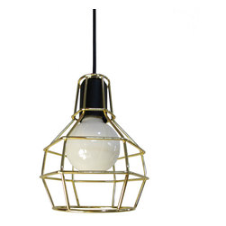 ParrotUncle - Cute Rustic Industrial Style Cage Foyer Pendant Light with Wires - Beautify your room from the lights with this rustic industrial style pendant light. It consists of a cage shade in the color of black, gold, or silver. You can make your choice according to your preferences. When it's on, you will enjoy the soft light out of it. Its cute appearance makes it adaptable for many room use. Great selection for your home decor. There are three colors available: black, white and golden.