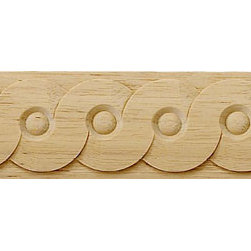 """Inviting Home - Glasgow Carved Wood Panel Molding - wood panel molding 1-1/2""""H x 3/16""""P x 8'00""""L sold in 8 foot length 4 piece minimum order required Wood panel molding specifications: Outstanding quality molding profile carved from high grade kiln dried solid European beech wood. High relief decorative design is machine carved. Wood molding is sold unfinished and can be easily stained painted or glazed. The installation of the wood molding should be treated the same manner as you would treat any wood molding: all molding should be kept in a clean and dry environment away from excessive moisture. acclimate wooden moldings for 5-7 days. when installing wood moldings it is recommended to nail molding securely to studs; pre-drill when necessary and glue all mitered corners for maximum support."""