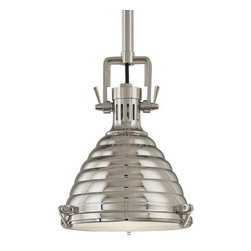 Hudson Valley Lighting - Naugatuck Pendant by Hudson Valley Lighting - The Hudson Valley Naugatuck Pendant provides an extra layer of illumination and furnishes your room with a livening accent of downlight ambience. The Naugatuck Pendant features metal shade and solid brass body.