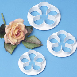 None - Petal Cutter Set 3 Pieces-Five Petal - Petal Cutter Set. These cutters are ideal for use with a wide range of edible and non-edible materials including: pastry; cookie dough; sugar paste; petal paste; marzipan or craft clays. You can create a variety of beautiful flowers! Design: Five Petal.