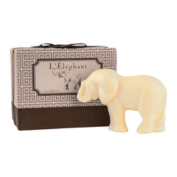 Gianna Rose - L'Elephant Soap - Our adorable L'Elephant Soap will sit nicely atop your bathroom. A beautiful fresh scent to liven the room.
