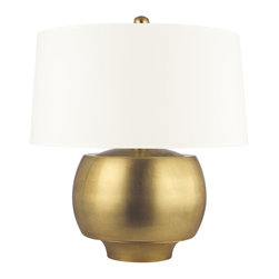 Hudson Valley Lighting - Hudson Valley Lighting L164-AGB-WS Holden Aged Brass Table Lamp - Hudson Valley Lighting L164-AGB-WS Holden Aged Brass Table Lamp