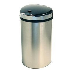 iTouchless - iTouchless 13-gallon Extra-wide Opening Trash Can - Take out the trash without touching a thing using this iTouchless automatic trash can. Bags won't slip thanks to the retainer ring, and the extra-wide opening can handle even large items. The lid automatically closes three seconds after you walk away.