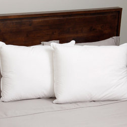 Hotel Madison - Hotel Madison 330 Thread Count Dual Core Down Alternative Pillow (Set of 2) - This Hotel Madison dual core pillow features a 330 thread count,100-percent cotton fabric cover.  The pillow is filled with soft and adjustable micro-denier fiber.